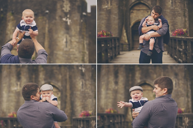 father-son-first-year-photography-caerphilly-castle
